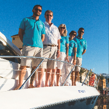 Zara, James, Angie, Sarah and Joao - welcome to the Just Charters family.